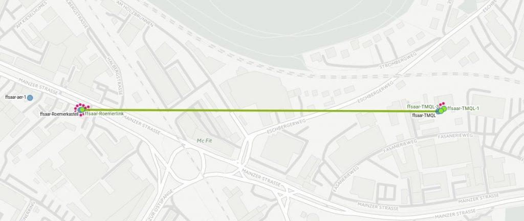Richtfunk Römerkastell Landkarte